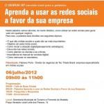 Convite Tec Triade Brasil Sebrae Ilha Bela - Aprenda a usar as redes sociais a favor da sua empresa