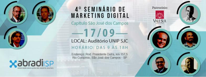 seminario marketing digital abradi sao jose dos campos tec triade brasil fabiano porto