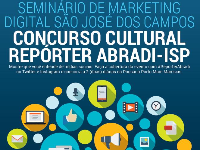 concurso cultural reporter abradi seminario mkt digital sao jose dos campos tec triade brasil
