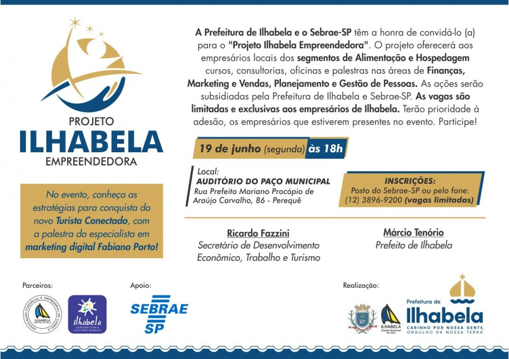 Ilhabela Empreendedora palestra fabiano porto midias sociais turismo agencia digital tec triade brasil sebrae