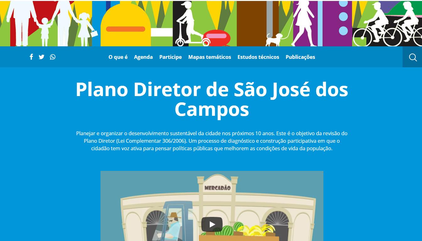 plano site diretor SJC portal web internet sao jose dos campos